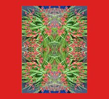Red Lily Fractal Unisex T-Shirt