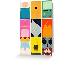 Minimal Adventure Time Portraits Greeting Card