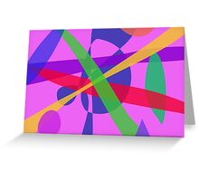 Crossing Lines Primitive Abstract Art Greeting Card