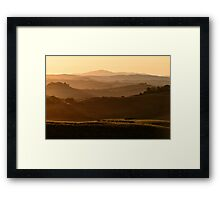 After the dawn, Val D'Orcia, Siena, Tuscany, Italy Framed Print