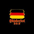 OKTOBERFEST 2016 with Stylized German Flag by Greenbaby