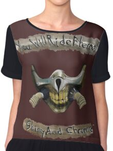 You Will Ride Eternal, Shiny and Chrome Chiffon Top