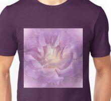 Big Lavender Pink Rose Glow Unisex T-Shirt