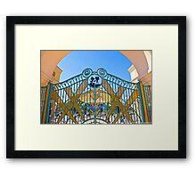 Walt Disney Studio Gates (Mickey Mouse) Framed Print