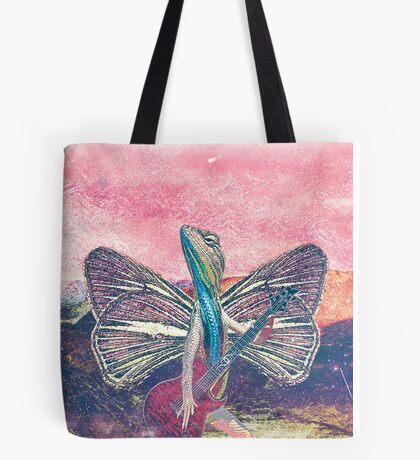 Psychedelic Lizard Tote Bag