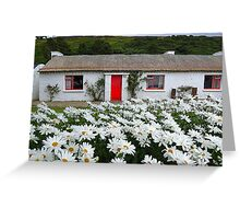 Irish Cottage With Daisies Greeting Card