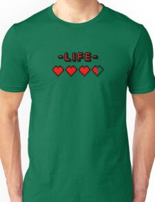 8-bit gamer lifebar Unisex T-Shirt