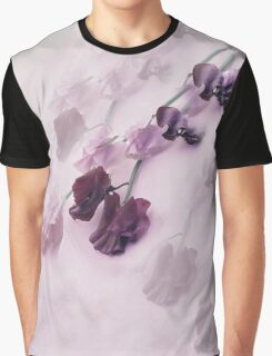 Sweet Pea Reflections in Mauve Graphic T-Shirt