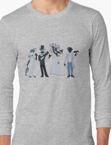 Blue, flowers, and birds Long Sleeve T-Shirt