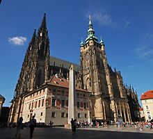 Prague St. Vitus Cathedral by Elena Skvortsova