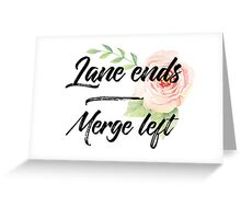 Merge Left Greeting Card