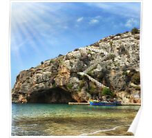 Gozo long stairs Poster