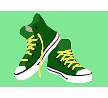 Green Sneakers Photographic Print