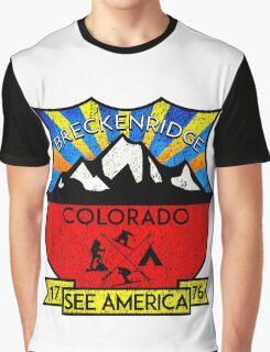BRECKENRIDGE COLORADO Skiing Ski Mountain Mountains Snowboard Snowboarding Hiking Camping Graphic T-Shirt