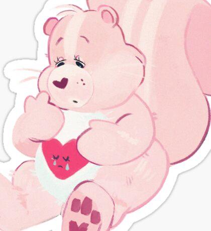 Soft Heart Skunk Sticker