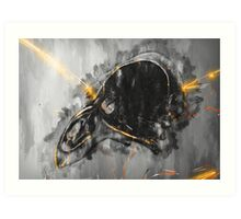 Emerge from the blackness Art Print