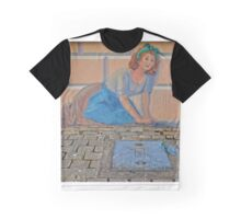 House Wife cleaning - Wall Art Painting Graphic T-Shirt