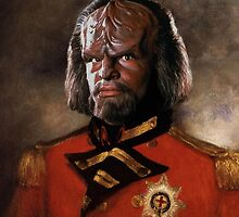 Worf / Micheal Dorn Digital Replaced Head Oil Painting by verypeculiar