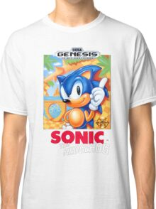 Sega Genesis Sonic The Hedgehog Video Game Cover  Classic T-Shirt
