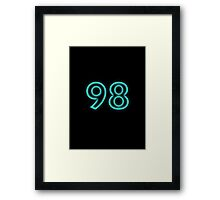Neon 98 glow retro blue Framed Print