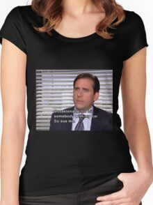 michael scott quote Women's Fitted Scoop T-Shirt