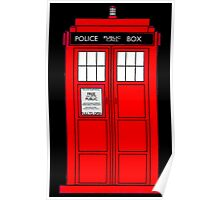 Red Police Call Box. Poster