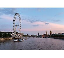 The Thames in Pink and Blue Photographic Print