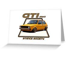 GTI mk1 Greeting Card
