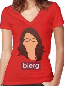 Liz Lemon - Blerg Women's Fitted V-Neck T-Shirt