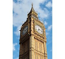 Big Ben and Clouds Photographic Print