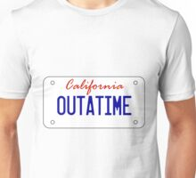 OUTATIME - licesnse plate Unisex T-Shirt