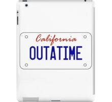 OUTATIME - licesnse plate iPad Case/Skin