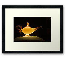 Jasmine's Lamp Framed Print