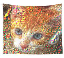 Meet Redbubble Cat! Wall Tapestry
