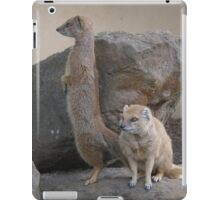 A Pair of Standing Mongooses iPad Case/Skin