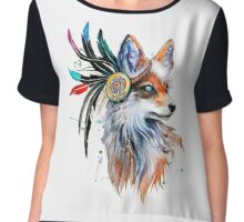 Fox Chiffon Top