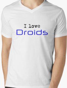 I Love Droids Mens V-Neck T-Shirt