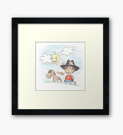 The Great Adventure of Pirate Boy Aaron Framed Print