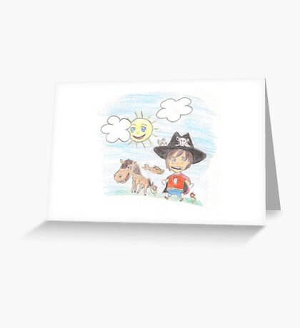 The Great Adventure of Pirate Boy Aaron Greeting Card