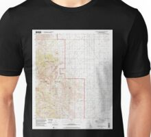 USGS TOPO Map Arizona AZ Cochise Stronghold 310934 1996 24000 Unisex T-Shirt