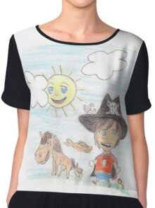 The Great Adventure of Pirate Boy Aaron Chiffon Top