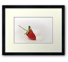 Strawberries & Cream II Framed Print
