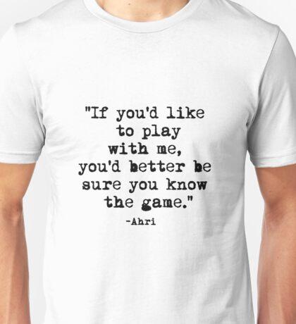 Ahri Quote Unisex T-Shirt