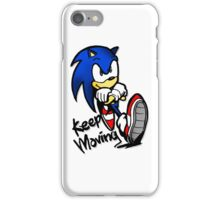 sonic keep moving iPhone Case/Skin
