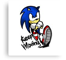 sonic keep moving Canvas Print