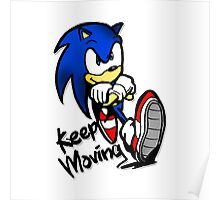 sonic keep moving Poster