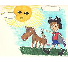 Pirate Boy Aaron and the Mystery of the Space Princess Photographic Print