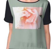 DELICATE SUN-DRENCHED ROSE Chiffon Top