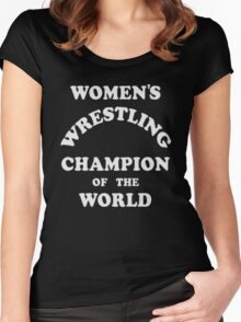 Andy Kaufman Wrestling Women's Fitted Scoop T-Shirt
