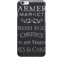 Farmer's Market Chalkboard 1 iPhone Case/Skin